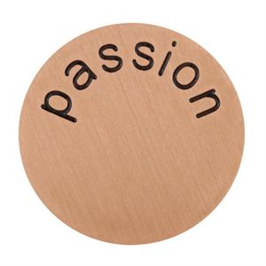 Picture of 'Passion' Large Rose Gold Coin