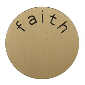 Picture of 'Faith' Medium Gold Coin